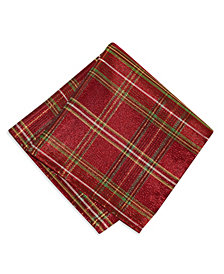 Elrene Shimmering Plaid Napkins, Set of 4