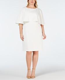 Calvin Klein Plus Size Tiered Dress