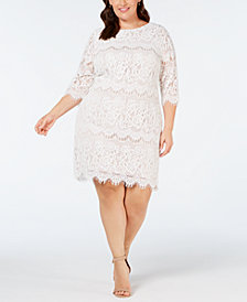 Jessica Howard Plus Size Scalloped Lace Dress