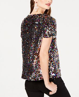 Inc International Concepts I N C Sequined T Shirt Created For