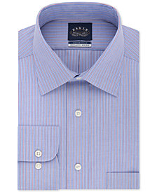 Eagle Men's Classic/Regular Fit Non-Iron Flex Collar Red Stripe Dress Shirt