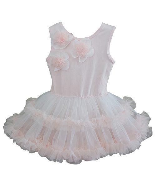 Popatu Dusty Rose Ruffle Petti Dress