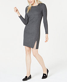 Bar III Swag-Chain Sweater Dress, Created for Macy's