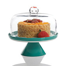 Gibson Nordic Cool 2 Pc Cake Stand with Cover