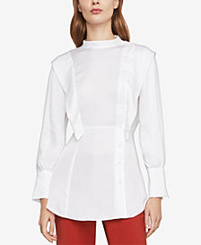 BCBGMAXAZRIA Asymmetric Button-Front Shirt
