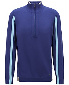 BOSS Men's Colorblocked Half-Zip Stretch Sweater