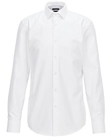 BOSS Men's Slim-Fit Travel Cotton Shirt