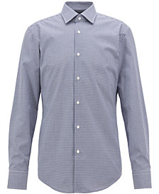 BOSS Men's Slim-Fit Poplin Cotton Shirt