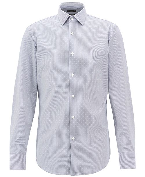Hugo Boss BOSS Men's Slim-Fit Cotton Shirt