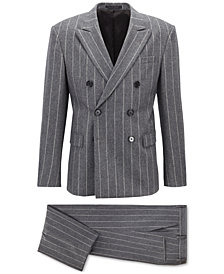BOSS Men's Relaxed-Fit Double-Breasted Suit