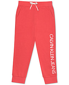 Calvin Klein Big Girls Logo Capri Sweatpants