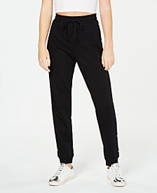Material Girl Juniors' Side-Snap Jogger Pants, Created for Macy's