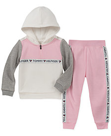 Tommy Hilfiger Toddler Girls 2-Pc. Fleece Hoodie & Jogger Pants Set