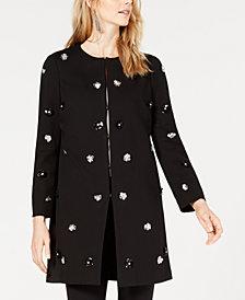 Alfani Embellished A-Line Jacket, Created for Macy's