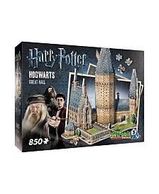 Wrebbit - 3D Puzzle Harry Potter Hogwarts Great Hall, 850 Pieces
