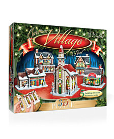 The Christmas Village Panel 3D Puzzle