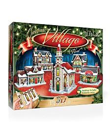 Wrebbit - The Christmas Village 3D Panel Puzzle