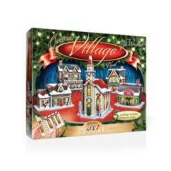 Wrebbit Christmas Village 3D Puzzle- 116 Pieces