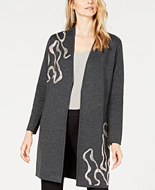 Alfani Beaded Open-Front Cardigan, Created for Macy's