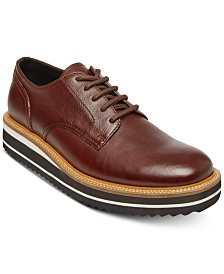 Self Made by Steve Madden Men's Sufraget Leather Platform Oxfords