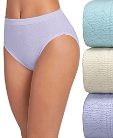 Elance Breathe Cotton French Cut Underwear 3 Pack Underwear 1541, Extended Sizes