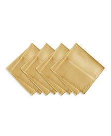 Elrene Elegance Plaid Gold Set of 4 Napkins