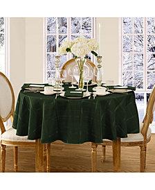 "Elrene Elegance Plaid Holly Green 70"" Round Tablecloth"