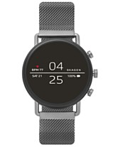 7f953458a603 Skagen Falster 2 Smoke Stainless Steel Mesh Bracelet Touchscreen Smart  Watch 40mm