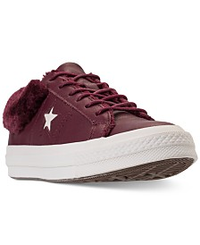 Converse Women's One Star Ox Faux Fur Casual Sneakers from Finish Line