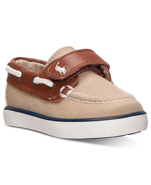 13e23e4bd4 Polo Ralph Lauren Toddler Boys' Sander EZ Casual Sneakers from ...