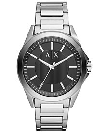 A|X Armani Exchange Men's Drexler Stainless Steel Bracelet Watch 44mm