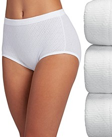 Elance Breathe Brief Underwear 3 Pack 1542 (Also available in extended sizes)