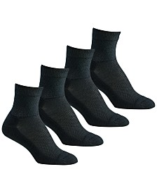 Berkshire 4-Pk. Diabetic Comfort Quarter Socks
