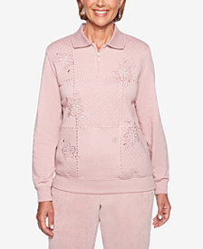 Alfred Dunner Home For The Holidays Embroidered Top