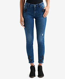 Lucky Brand Lolita Embroidered Skinny Ankle Jeans