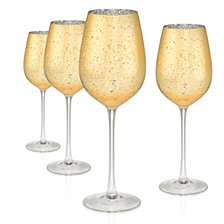 Artland Gold Rustica 17 oz. Goblet, Set of 4