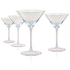 Artland Set of 4 8oz. Luster Purple Martini Glasses