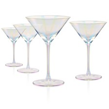 Artland Luster Clear Martini Glass - Set of 4