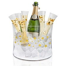 Gold Stars Champagne Bucket 7pc Set