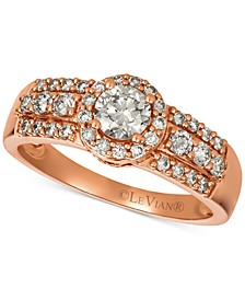 Diamond Halo Ring (3/4 ct. t.w.) in 14k Rose Gold