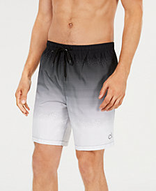 "Calvin Klein Men's 7"" Halftone Gradient Swim Trunks, Created for Macy's"