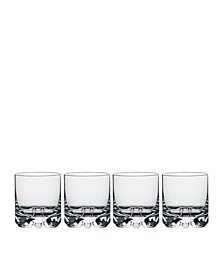 Orrefors Erik Double Old Fashioned Glasses, Set of 4