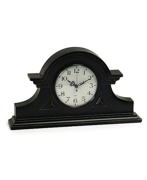 IMAX Black Mantel Clock