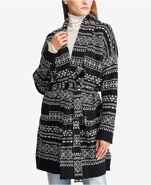 7e942789e Lauren Ralph Lauren Fair Isle Cardigan   Reviews - Sweaters ...
