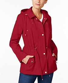 Petite Anorak Rain Jacket, Created for Macy's