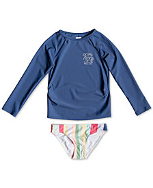 Roxy Little Girls Rash Guard Swimsuit