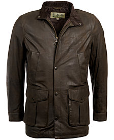 Barbour Men's Thomas Leather Jacket