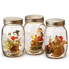 National Tree Holiday Accent Mason Jar Assortment with Lights