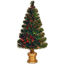 "National Tree 32"" Fiber Optic Fireworks Evergreen Tree"