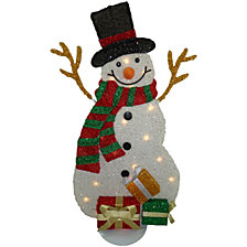 "National Tree PreLit 31"" Tinsel Snowman"